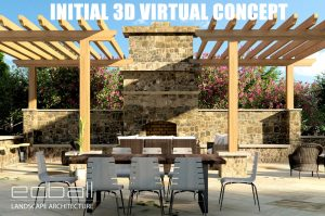 Initial 3D Visual Illustration (virtual concept) provided by Ed Ball Landscape Architecture