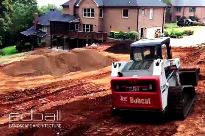 Construction Phase of Landscape Architecture Project in Northern Virginia