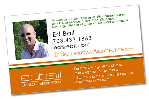 Business Card for Ed Ball