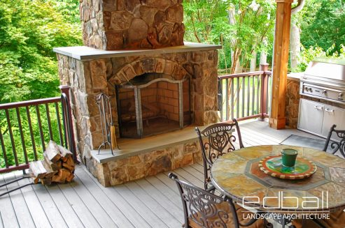 outdoor fireplace builders