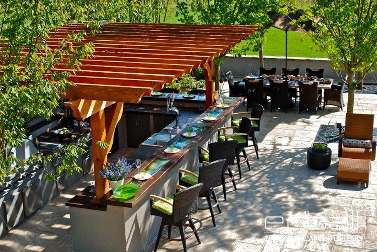 outdoor kitchen & pavilions